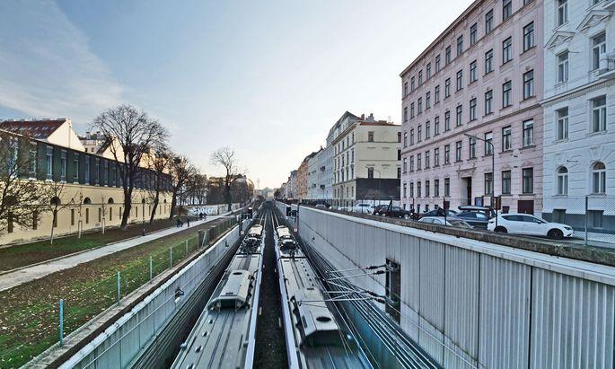 Gleistrasse, früher Wiener Neustädter Kanal, Wien Landstraße.