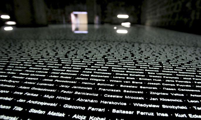 Symbolbild: Gedenkraum im ehemaligen KZ Mauthausen, zu dessen Außenlager Gunskirchen zählte
