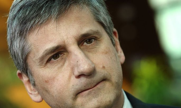 Austrian Finance Minister Spindelegger talks to the media in Vienna