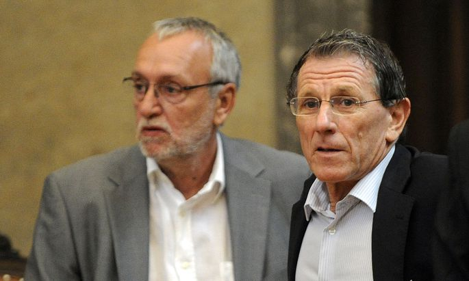 Der ehemalige Telekom-Vorstand Rudolf Fischer und Lobbyist Peter Hochegger