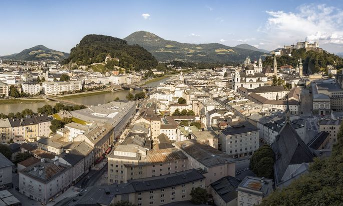 Austria, Salzburg, view to the city