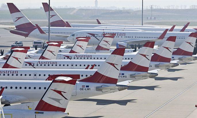 Trotz Rückholungen: Die meisten AUA-Flieger bleiben am Flughafen Schwechat