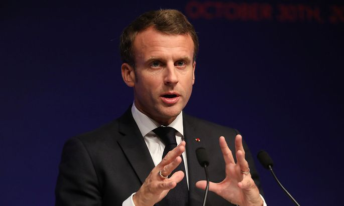 French President Macron attends the Global Forum on AI for Humanity in Paris