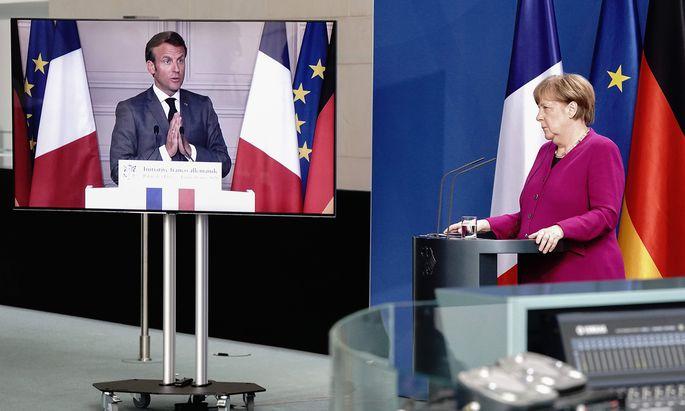Emmanuel Macron und Angela Merkel.