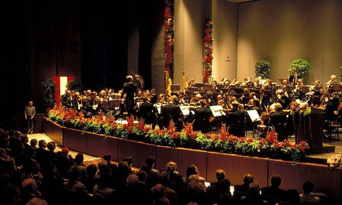Archivbild: Die Wiener Symphoniker bei einem Auftrittin Bregenz