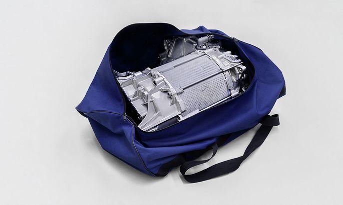 Platz in der Sporttasche: Das Aggregat von VW ist kompakt.