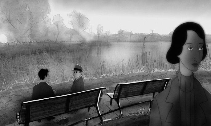 Konspiratives Treffen in London: Animation von Edith Tudor-Hart, Arnold Deutsch, Kim Philby.