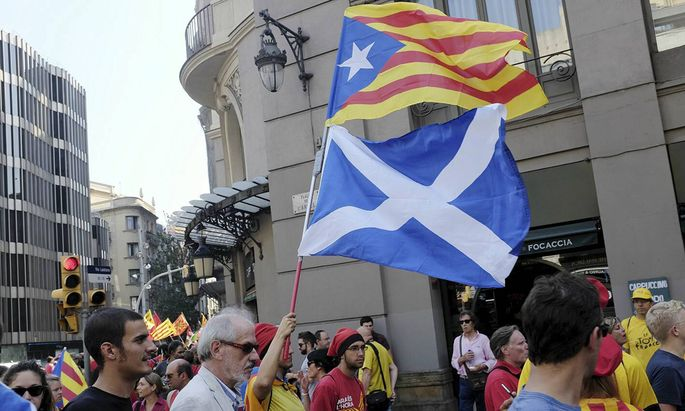 Independence demonstration across Barcelona streets due to the day of Catalonia BARCELONA PUBLICATI