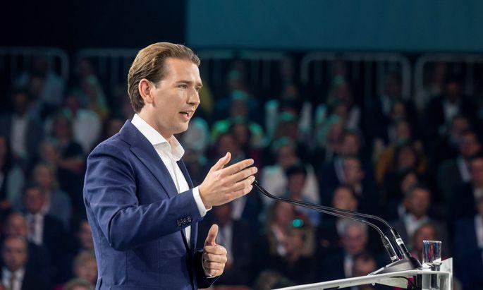 Sebastian Kurz am ÖVP-Parteitag