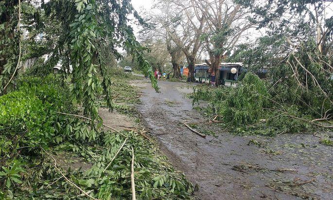 """Zyklon """"Ava"""" führte auf Madagaskar zu massiven Schäden."""