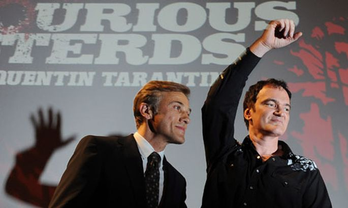 Christoph Waltz and US director Quentin Tarantino