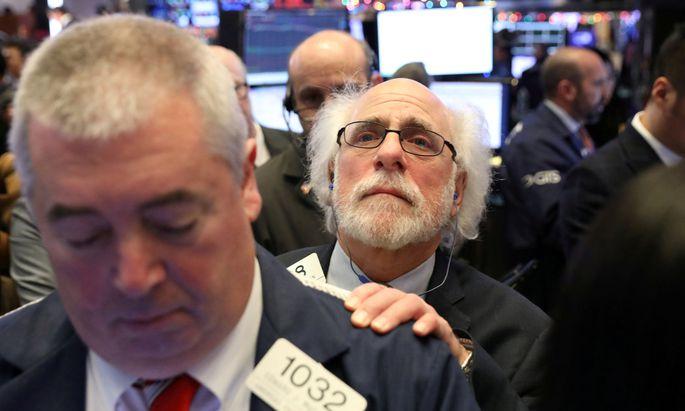Lange Gesichter an der Wall Street: Im Dezember des vorigen Jahres stürzten die Börsen tief ab.