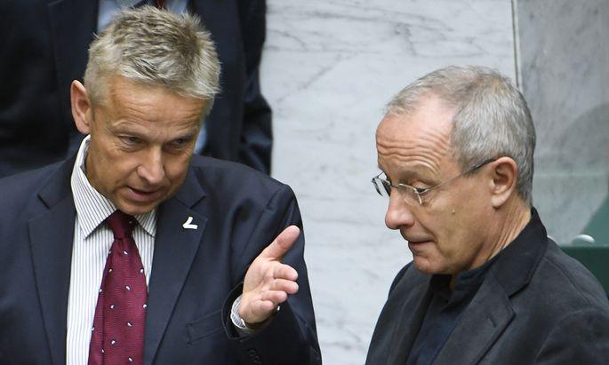 Reinhold Lopatka und Peter Pilz.