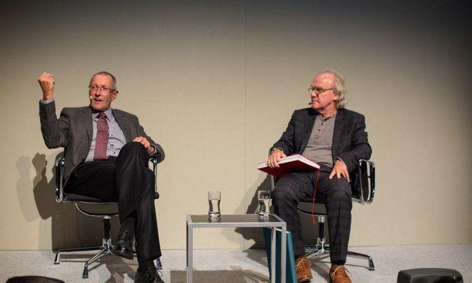 Konrad Paul Liessmann und Michael Köhlmeier beim philosophisch-literarischem Vorabend