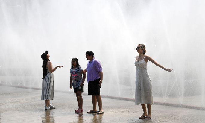 Zukünftig kann man sich auch im Esterházyparks bei Hitze abkühlen.
