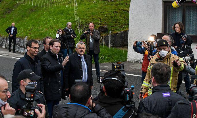Bundeskanzler Sebastian Kurz im Kleinwalsertal