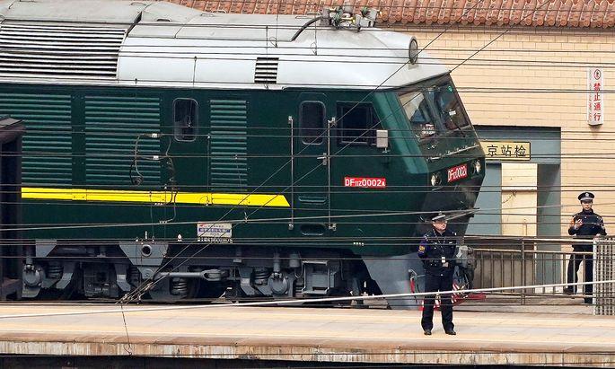 Per Zug kam ein hoher nordkoreanischer Vertreter nach Peking.