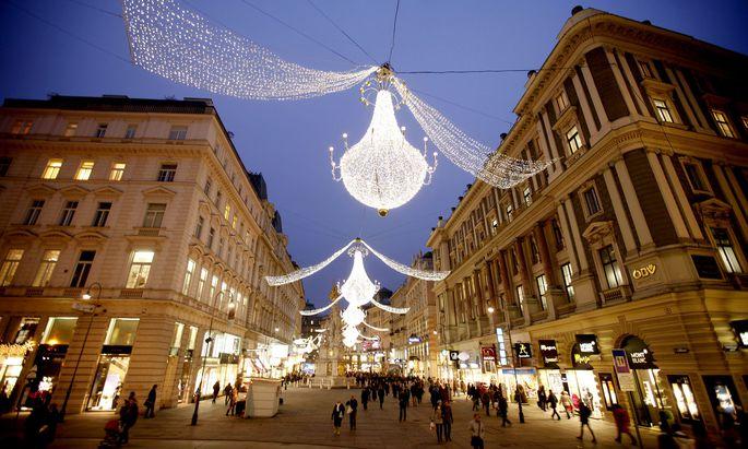Die Einkäufer – hier am Wiener Graben – scheinen in besserer Kauflaune zu sein als im Vorjahr.
