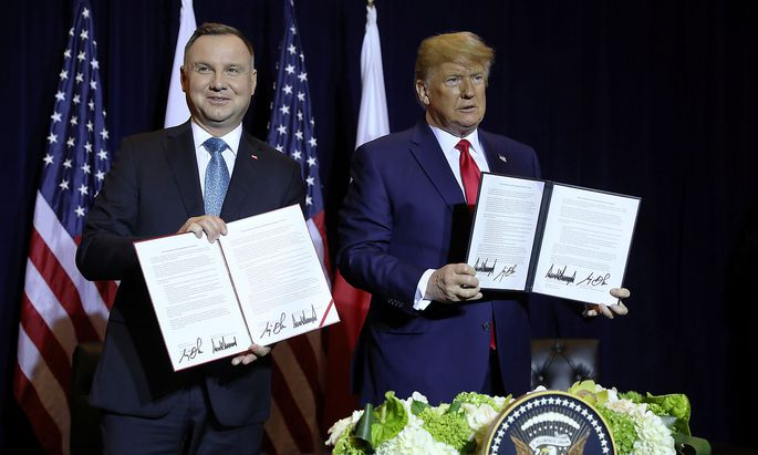 U.S. President Trump meets with Poland's President Duda on sidelines of U.N. General Assembly in New York City