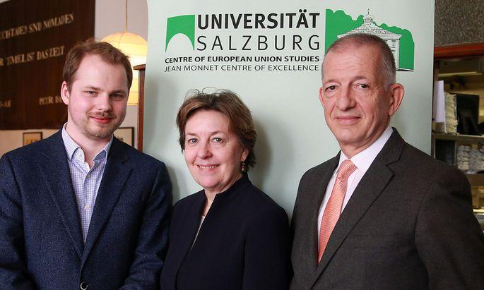 Professor Florian Huber, Professorin Sonja Puntscher Riekmann, Professor Stefan Griller