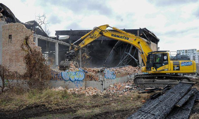 Mittlerweile wird die Nordbahnhalle abgerissen.
