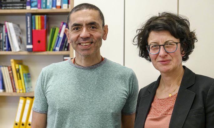 Die beiden BioNtech-Mitgründer Uğur Şahin und Özlem Türeci.