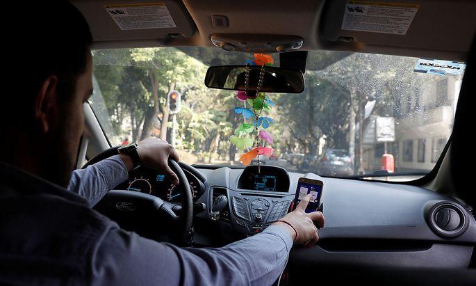 Symbolbild: Ein Uber-Fahrer, aufgenommen in Mexico City