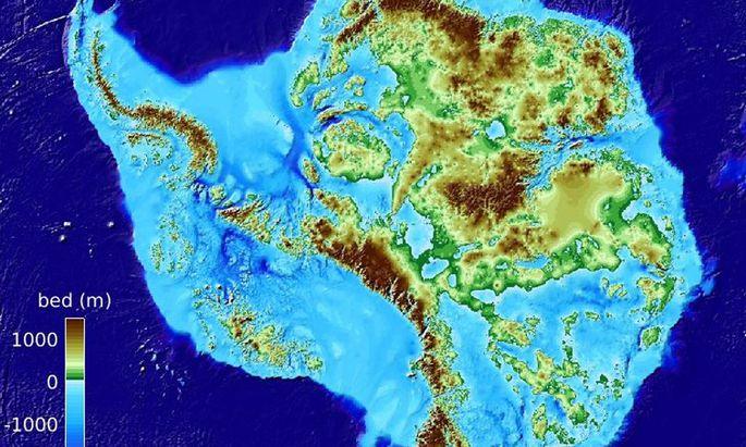 So sieht die Antarktis unter dem Eis aus.