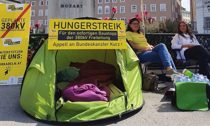 SALZBURG: GEGNER DER 380-KV-FREILEITUNG TRETEN IN HUNGERSTREIK