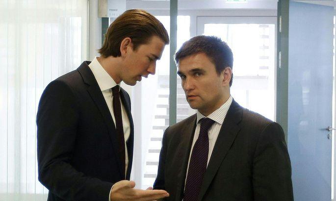 Pawlo Klimkin, hier mit Bundeskanzler Kurz im Bild.