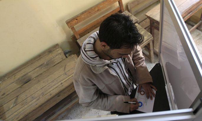 Abstimmung aegypten Schlaegereien eine