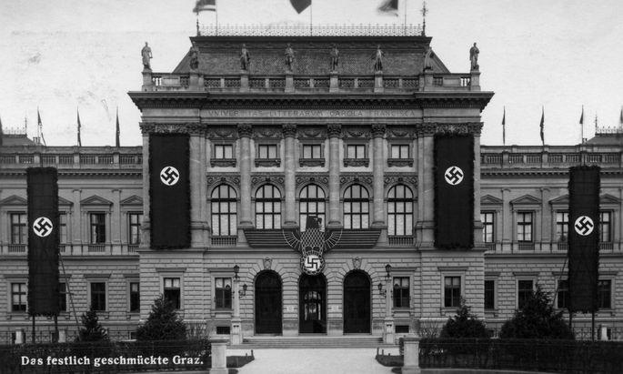 Die Universität Graz auf einem undatierten Archivbild zur Zeit des Nationalsozialismus.