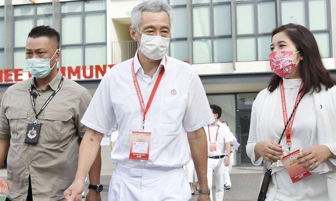 Lee Hsien Loong führte seine PAP erneut zum Sieg.