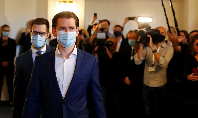 Austrian Chancellor Sebastian Kurz arrives to give testimony at a parliamentary inquiry committee in Vienna