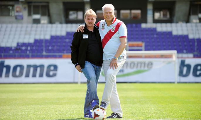 Andreas Ogris und Toni Polster