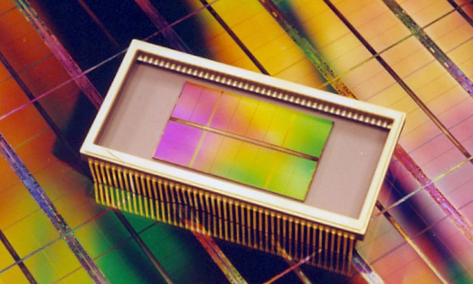 A 4GB DRAM MEMORY CHIP DEVELOPED BY SOUTH KOREA'S SAMSUNG ELECTRONICS