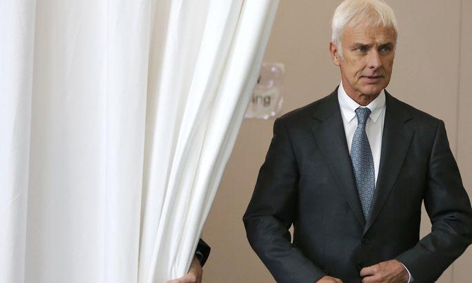 Was wusst er wann über die Dieselaffäre? Die Staatsanwaltschaft ermittelt gegen VW-Chef Matthias Müller.