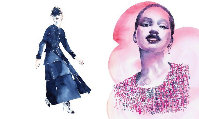 Inspiriert von Couture Looks von Chanel.