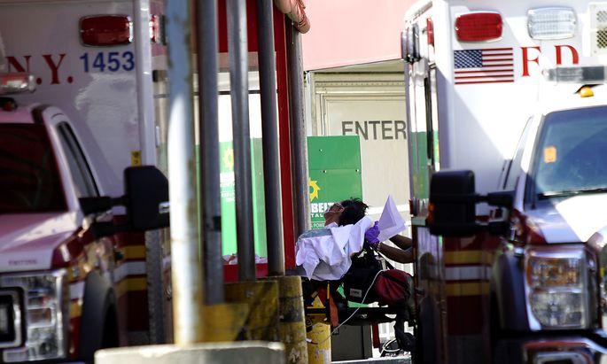 Das New Yorker Gesundheitswesen ist an seiner Kapazitätsgrenze.