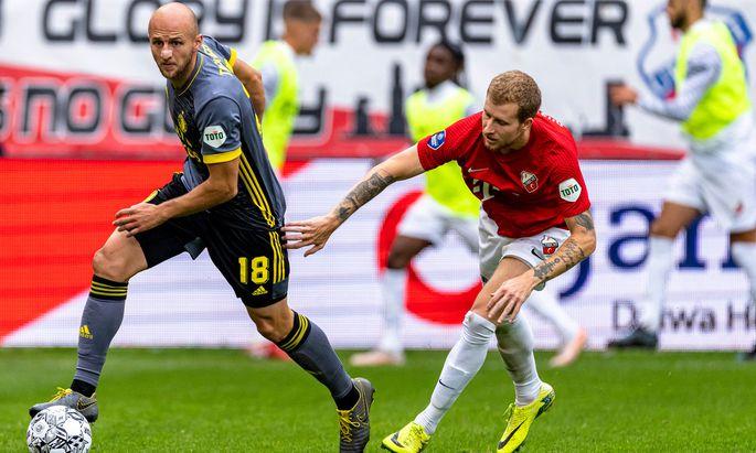 Verteidiger Gernot Trauner behält bei Feyenoord Rotterdam die Übersicht in der Abwehr.