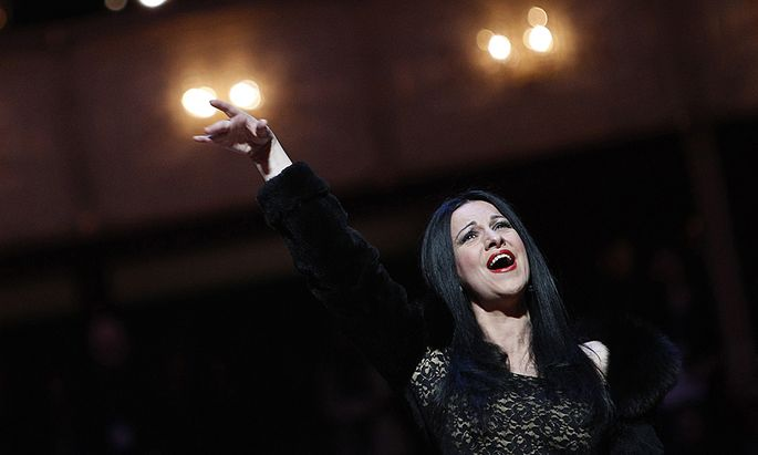 Soprano singer Gheorghiu performs during a dress rehearsal for the traditional Opera Ball in Vienna