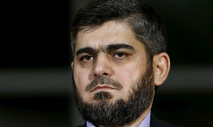 Resigniert: Oppositions-Chefverhandler Alloush