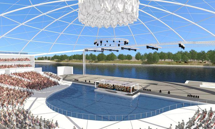 """Die """"Donau Arena Wien"""" soll bis zu 6000 Zuseher fassen."""