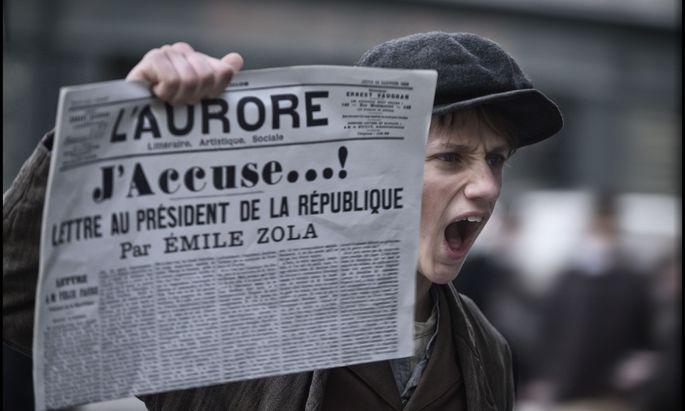 """Die Macht der Medien damals, bei der Dreyfus-Affäre, und heute, mit #MeToo, liefert den Subtext von Polanskis Film """"J'accuse""""."""