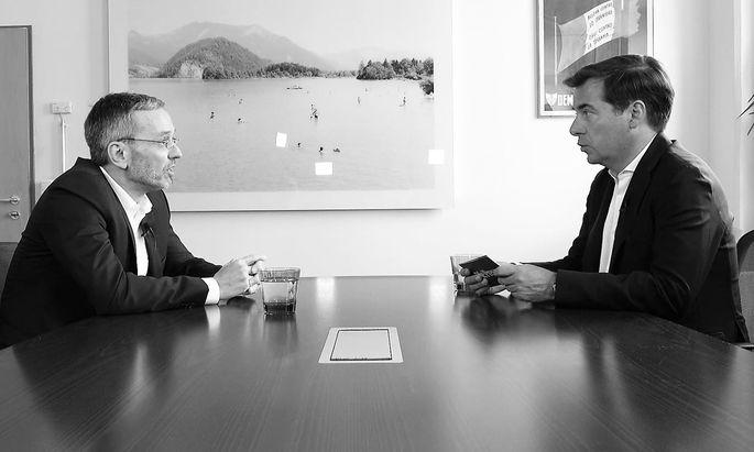 """Herbert Kickl im Gespräch mit """"Presse""""-Herausgeber Rainer Nowak"""