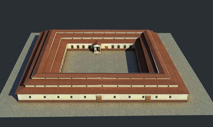 3-D-Visualisierung eines römischen Heeresspitals (valetudinarium) Foto: 7reasons