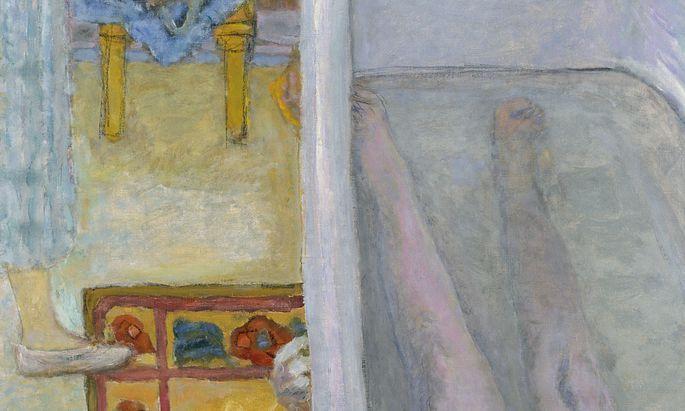 """Häusliche Idylle? Dabei ist nichts hier ganz, alles extrem fragmentiert. Ausschnitt aus """"Akt in der Wanne"""", 1925."""
