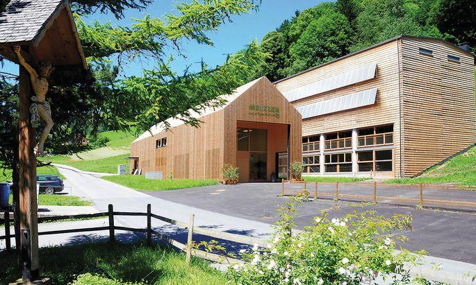 Die neuen Stallungen bei Metzlers in Vorarlberg.