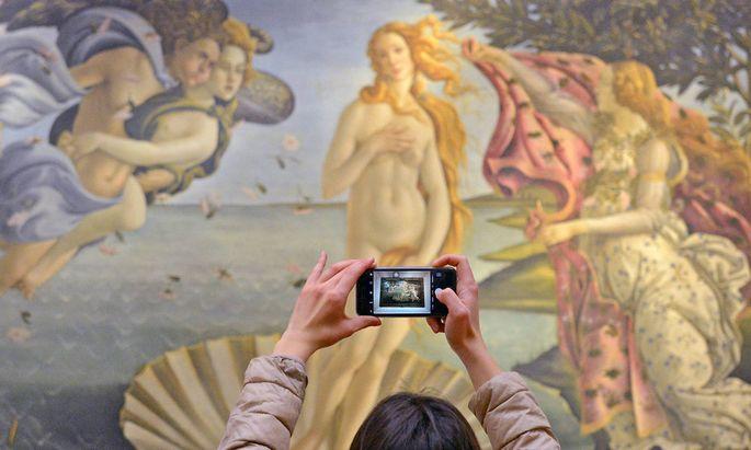 "Botticellis ""Die Geburt der Venus""."