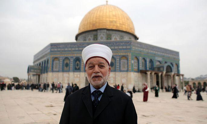 Die isarelische Polizei nahm den Großmufti von Jerusalem in Gewahrsam.